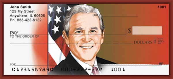 President George W Bush Personal Checks