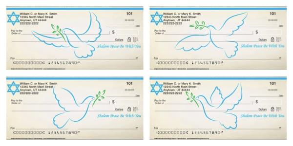 Shalom Peace Jewish Checks