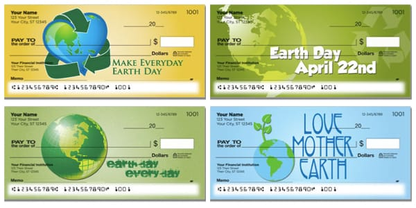 Earth Day Personal Checks