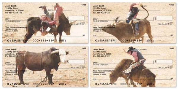 Eight Seconds Rodeo Checks