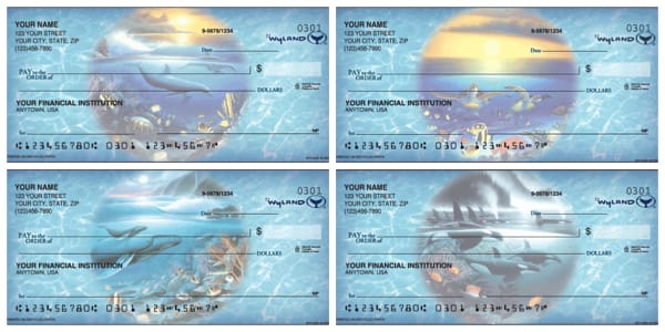 Ocean World by Wyland Scenic Personal Checks