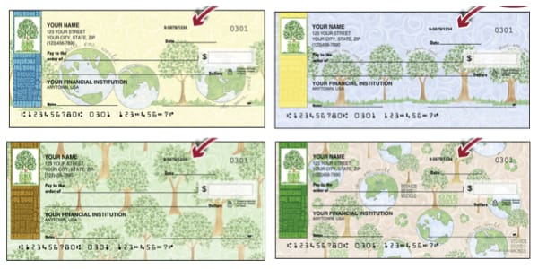 One Green Thing Personal Checks