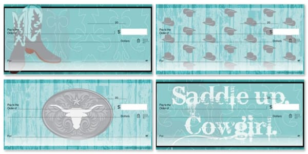 Saddle Up Cowgirl Personal Checks