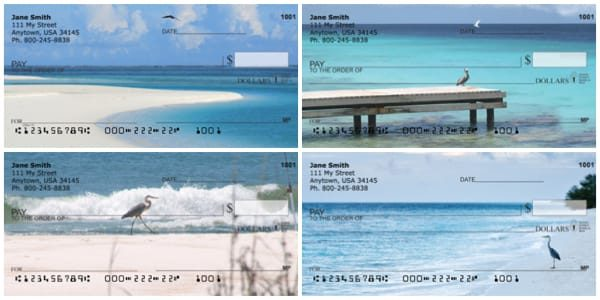 Beach Birds Personal Checks