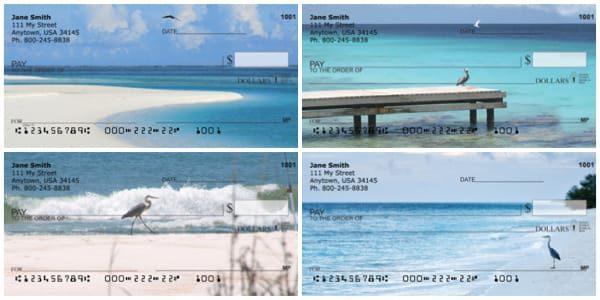 Beach Birds Personal Checks