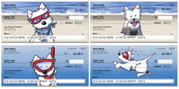 Beach Dog Series Personal Checks