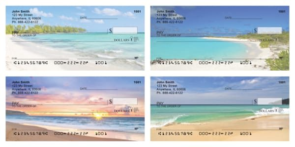 Beach Getaway Personal Checks