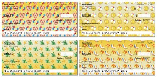 Beach Pattern Personal Checks