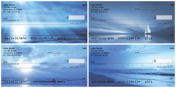 Beachy Blues Personal Checks