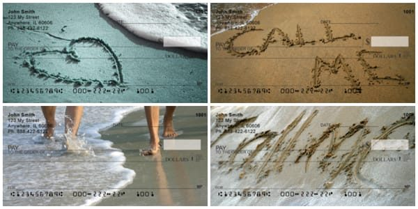 Call Me Written in the Sand Personal Checks