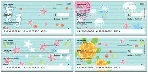 Colombo Beach Patterns Personal Checks