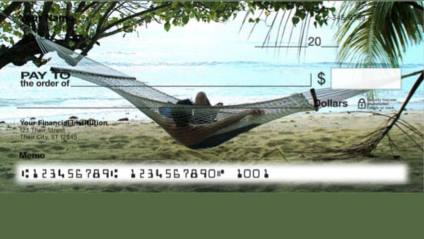 Dreaming of Palm Tree Paradise Personal Checks