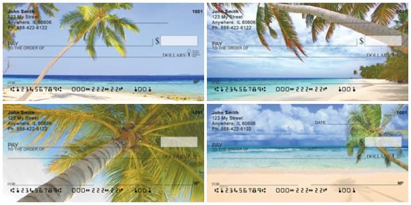 Palm Tree Paradise Personal Checks