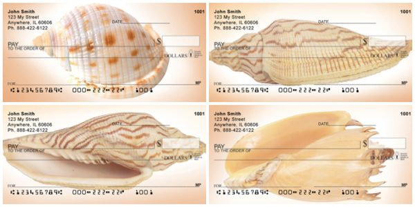 Peachy Shell Collection Personal Checks
