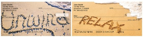 Relax and Unwind at the Beach Personal Checks