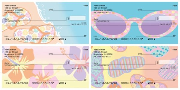 Retro Beach Scenes Personal Checks