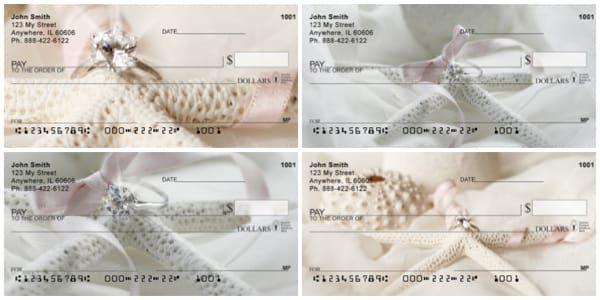 Romantic Shells Personal Checks