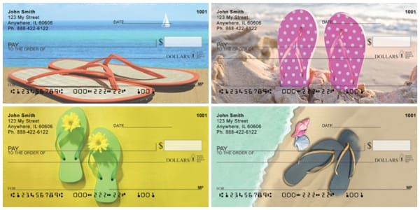 Sandy Flip Flops Personal Checks