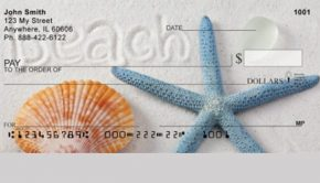Starfish and Seashell Personal Checks