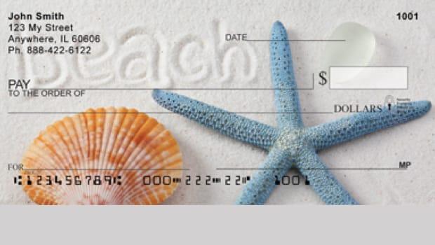 Starfish and Seashell Personal Checks