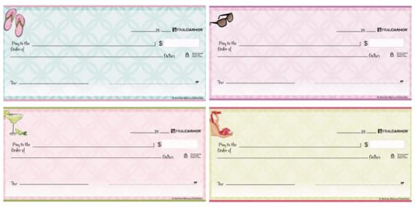 Summer Icons Personal Checks