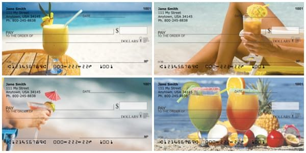 Tropical Cocktails Personal Checks
