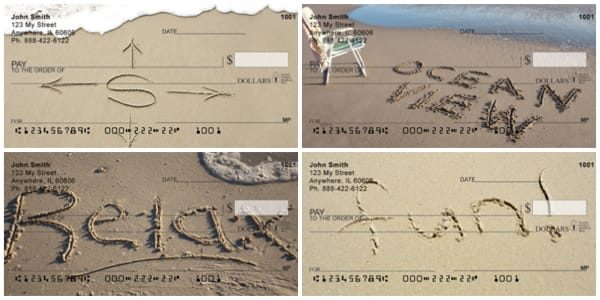 Beach Vacation Sentiments Personal Checks