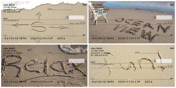 Beach Vacation Sentiments Personal Checks