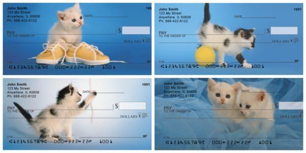 Kitten Curiosity Personal Checks