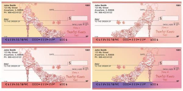 Peach Shoes Personal Checks
