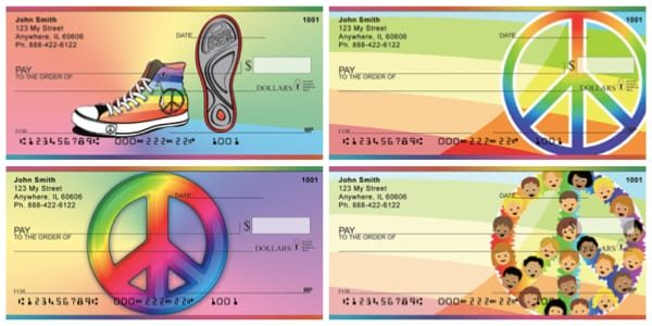 Rainbows For Peace Personal Checks