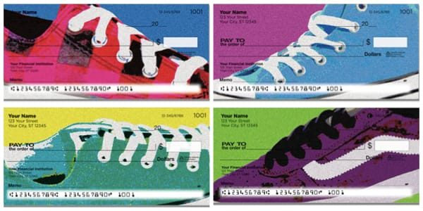 Retro Shoes Sneakers Personal Checks