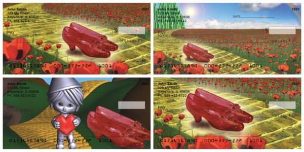 Yellow Brick Road Ruby Slippers Personal Checks
