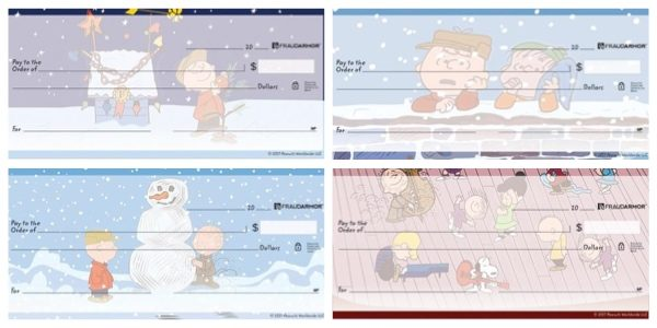 Charlie Brown Christmas Checks