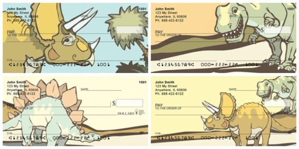 Cute Friendly Dinosaurs Personal Checks