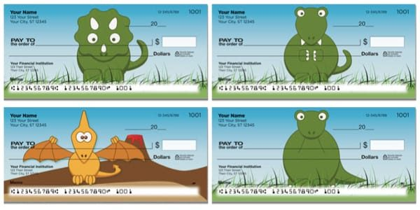 Darling Dinosaurs Personal Checks