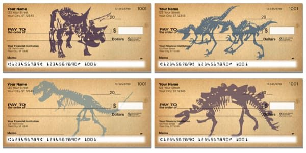 Dinosaur Skeleton Personal Checks