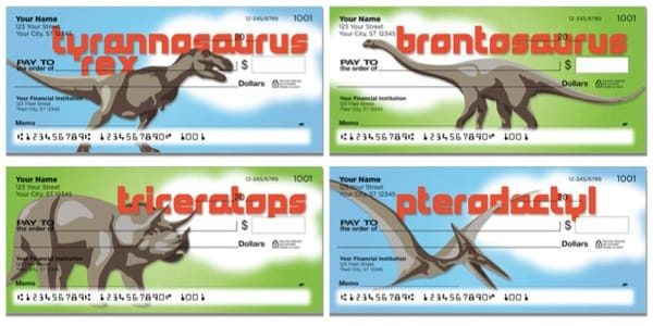 Dinosaur Species Personal Checks