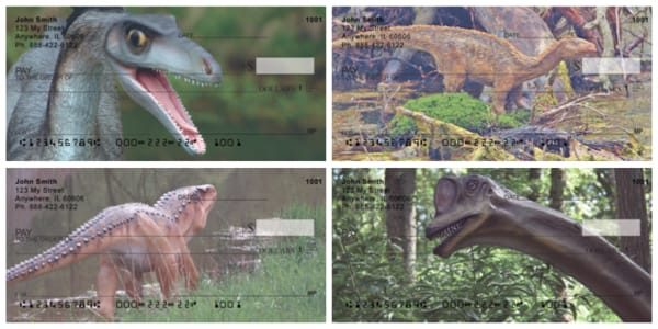 Dinosaurs Roaming the Forests Personal Checks