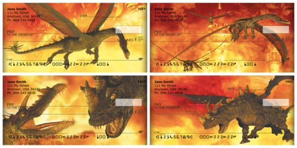 Fire Breathing Dragons Personal Checks