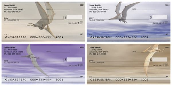 Flying Dinosaurs Personal Checks