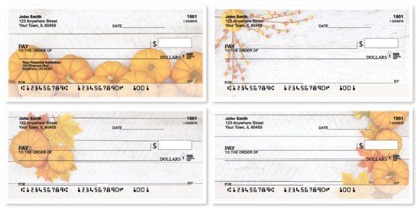Grateful Pumpkin Personal Checks