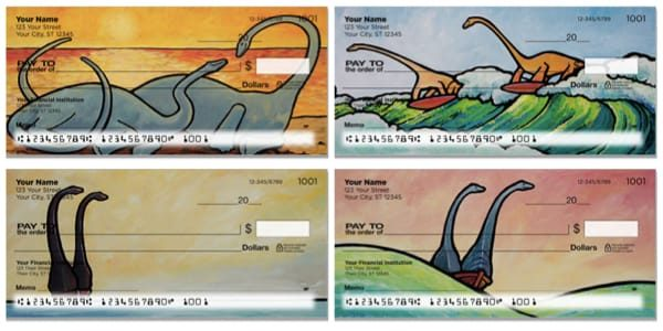Pacific Dinosaur Personal Checks