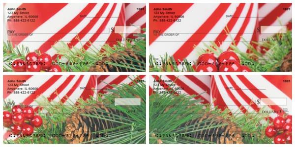Candy Cane Christmas Personal Checks