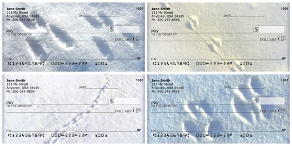 Animal Tracks in the Snow Personal Checks