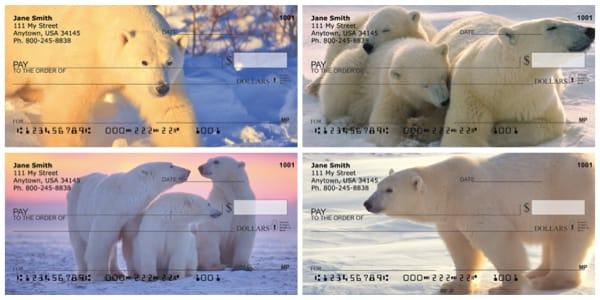 Arctic Bliss Polar Bear Personal Checks
