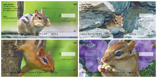 Chipmunks Everywhere Personal Checks