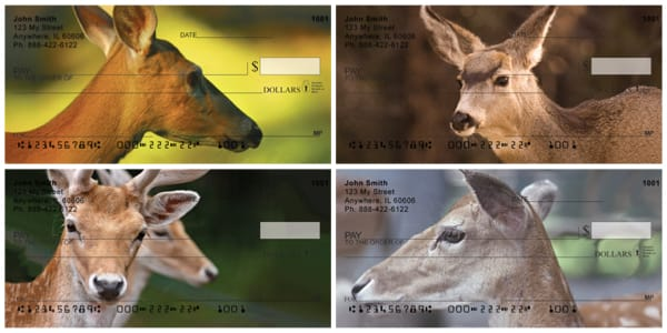 Deer Closeups Personal Checks