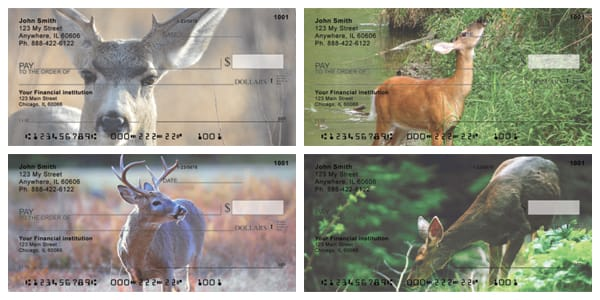 Deer in Four Seasons Personal Checks