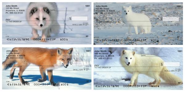 Fox In Winter Personal Checks